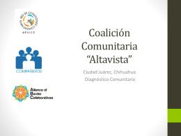 Coalición Altavista. - Red de Coaliciones Comunitarias