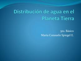 Distribución de agua en el Planeta Tierra