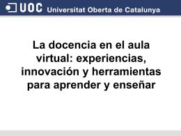 Conesa_ docencia_JPDCUOC2011_cast