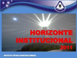 INSTITUTO TÉCNICO MERCEDES ÁBREGO HORIZONTE