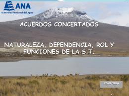 Coordinacion técnica de cuenca quilca-chili