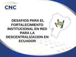 fortalecimiento - Consejo Nacional de Competencias