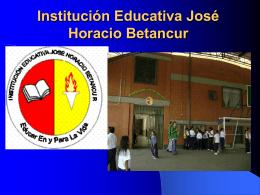 PRESENTACIÓN DE LA IE. JHB