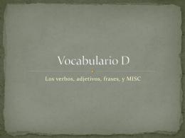 Vocabulario D - JenniferWall