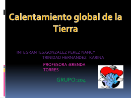 Calentamiento global de la Tierra