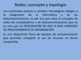 Redes: concepto y topología