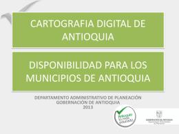 estado del convenio cartografía digital de antioquia