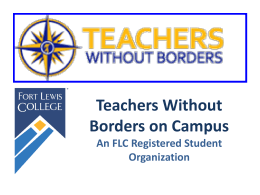 Teachers Without Borders on Campus An FLC