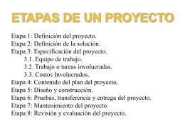 etapas de un proyecto