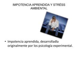 IMPOTENCIA APRENDIDA Y STRÉSS AMBIENTAL (884038)