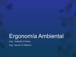 Ergonomía Ambiental - ERGONOMIA-Y-CIBERNETICA