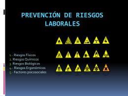 Prevencion de riesgos laborales Oscar