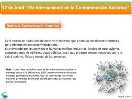 PPT Contaminación Acústica