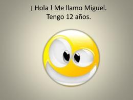 ¡ Hola ! Me llamo Miguel Hacene.