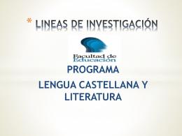 lineas de investigacion programa