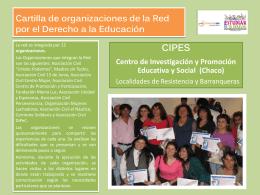 Cartilla CIPES - Fundación SES