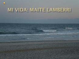 Mi vida: Maite Lamberri - Español con la Sra Lamberri
