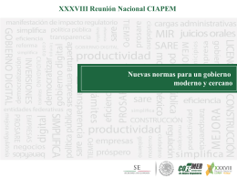 Agenda Común de Mejora regulatoria
