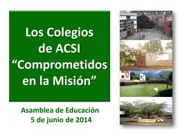 *Comprometidos en la Misión* en los Colegios de ACSI