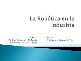 La Robótica en la Industria - materia