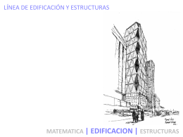 edificacion i - ii - Escuela de Arquitectura