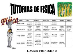Horarios Tutorias Física.