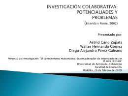 Investigación Colaborativa - El conocimiento matemático