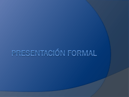 Presentación formal