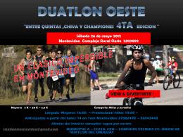 DUATLON OESTE ¨Entre Quintas ,Chiva y Championes 4ta edicion