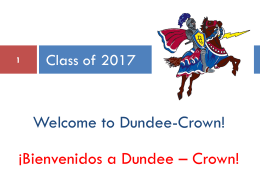 Charger Quest Presentation - Dundee-Crown High School