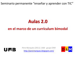 Aulas 2.0 en el marco de un currículum bimodal