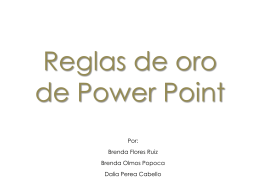 Reglas de oro de Power Point