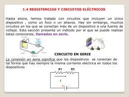 1.4 resistencias y circuitos eléctricos