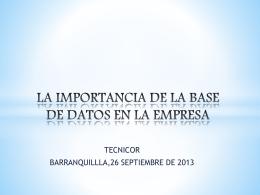 LA IMPORTANCIA DE LA BASE DE DATOS EN LA EMPRESA