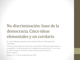 No discriminación: base de la democracia