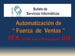 sfa automatizacin fuerza de ventas