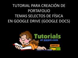 Tutorial Portafolio TSF Google Drive
