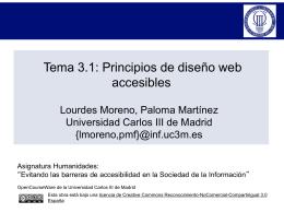 PRINCIPIOS DE DISEÑO WEB ACCESIBLES - OCW