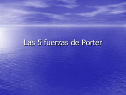 Las 5 fuerzas de Poter