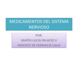 MEDICAMENTOS DEL SISTEMA NERVIOSO