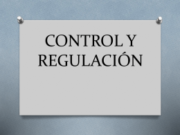 CONTROL Y REGULACIÓN (3321987)