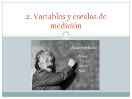 2. Variables y escalas de medición
