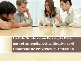 Presentacion Congreso V de Gowin 2014