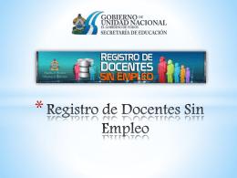 Registro de Docentes Sin Empleo