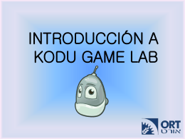 INTRODUCCIÓN A KODU GAME LAB