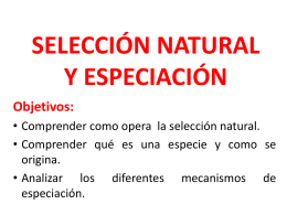 Selección natural y sexual