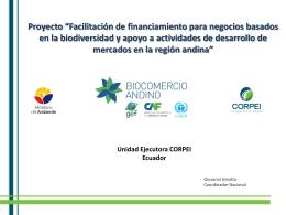 Proyecto - Biocomercio Sostenible Ecuador