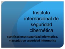Donde estudiar seguridad informatica