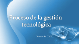 Proceso de Gestion tecnologica - DCFR001-V2