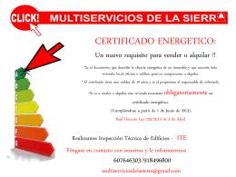 certificado energetico - Click! Multiservicios de La Sierra